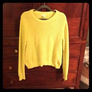 Chunky knit yellow sweater